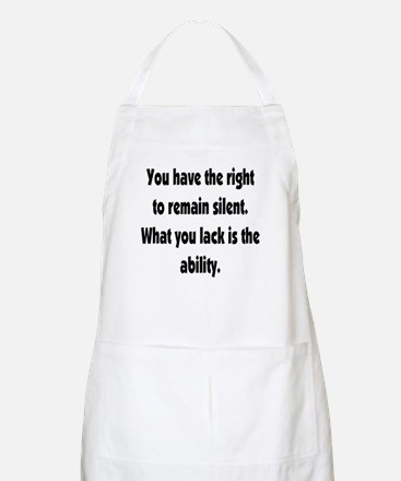 The right to remain silent BBQ Apron