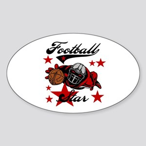 Football Star Oval Sticker
