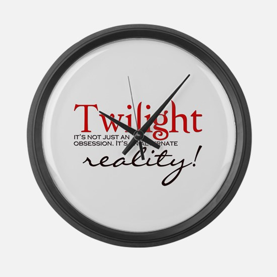 Twilight its not just an... Large Wall Clock