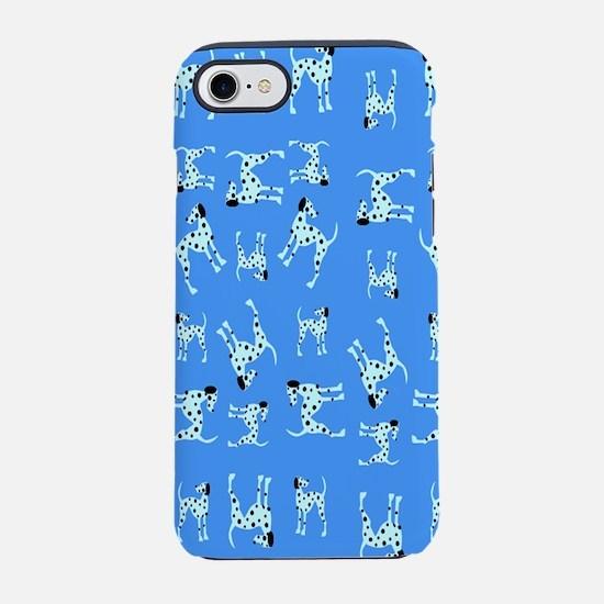 Dalmatians Blue iPhone 7 Tough Case