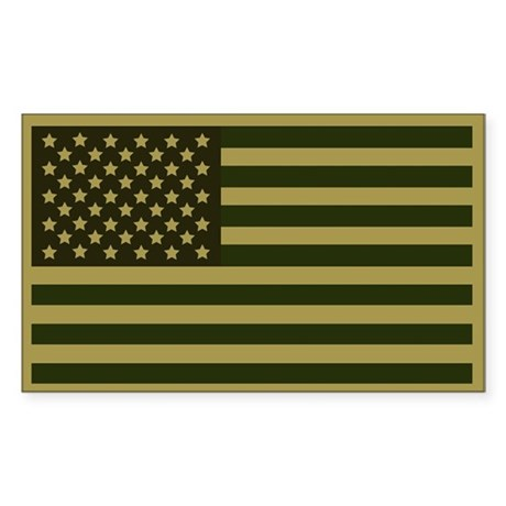 American Flag Sticker (Drab)