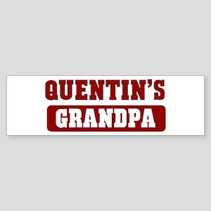 Quentins Grandpa Bumper Sticker