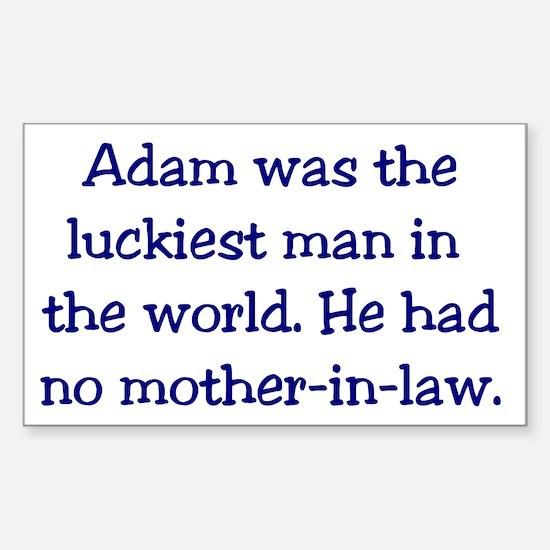 """Adam"" Funny Christian Joke Rectangle Decal"