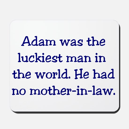 """Adam"" Funny Christian Joke Mousepad"