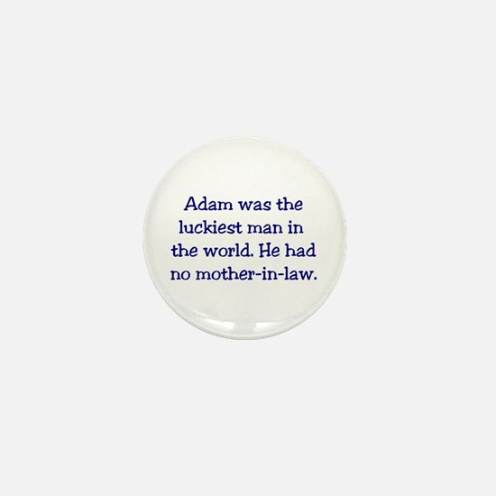 """Adam"" Funny Christian Joke Mini Button"