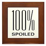 100% Spoiled Framed Tile