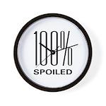 100% Spoiled Wall Clock