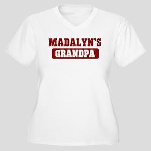 Madalyns Grandpa Women's Plus Size V-Neck T-Shirt