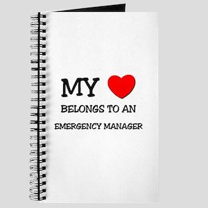 My Heart Belongs To An EMERGENCY MANAGER Journal