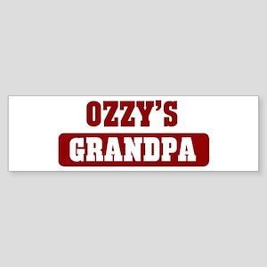 Ozzys Grandpa Bumper Sticker
