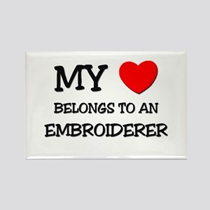 My Heart Belongs To An EMBROIDERER Rectangle Magne