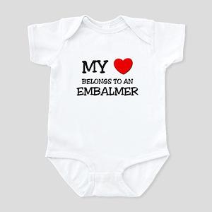 My Heart Belongs To An EMBALMER Infant Bodysuit