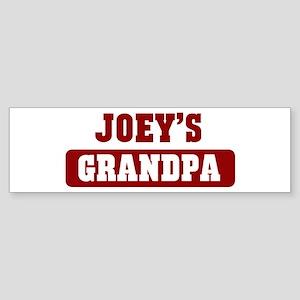 Joeys Grandpa Bumper Sticker