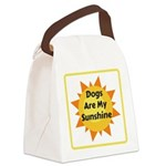 Dogs are My Sunshine Canvas Lunch Bag