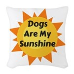 Dogs are My Sunshine Woven Throw Pillow