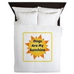 Dogs are My Sunshine Queen Duvet