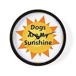 Dogs are My Sunshine Wall Clock