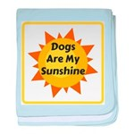 Dogs are My Sunshine baby blanket