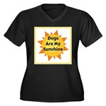 Dogs are My Sunshine Plus Size T-Shirt