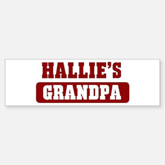 Hallies Grandpa Bumper Car Car Sticker
