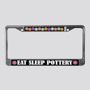 Eat Sleep Pottery License Plate Frame