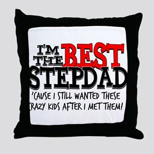 Best Stepfather Throw Pillow
