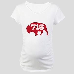 716 Buffalo Area Code Maternity T-Shirt