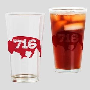 716 Buffalo Area Code Drinking Glass