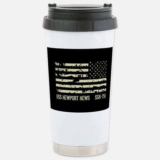 USS Newport News Stainless Steel Travel Mug