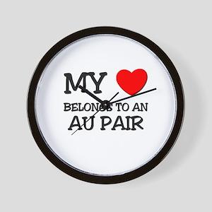 My Heart Belongs To An AU PAIR Wall Clock