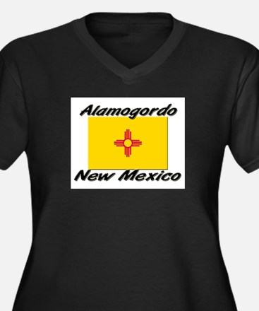 Alamogordo New Mexico Women's Plus Size V-Neck Dar