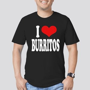 I Love Burritos Men's Fitted T-Shirt (dark)