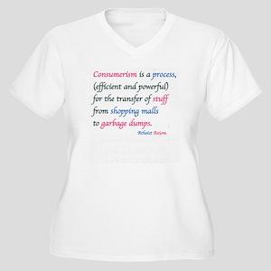 CONSUMERISM: Women's Plus Size V-Neck T-Shirt