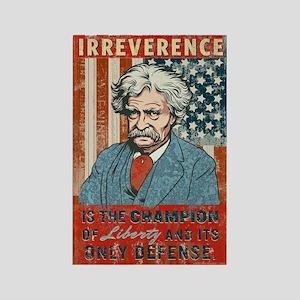 Mark Twain Irreverence Rectangle Magnet