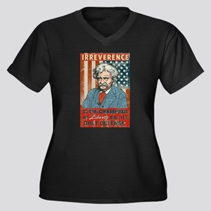 Mark Twain Irreverence Women's Plus Size V-Neck Da