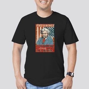 Mark Twain Irreverence Men's Fitted T-Shirt (dark)