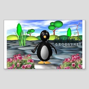 Penguin Rectangle Sticker