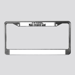 in the beginning License Plate Frame