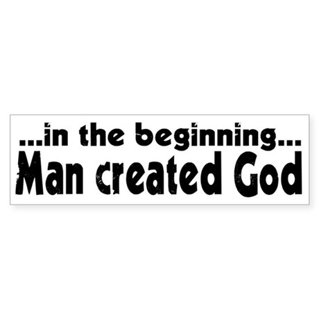 in the beginning Bumper Sticker (50 pk)