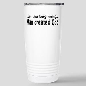in the beginning Stainless Steel Travel Mug