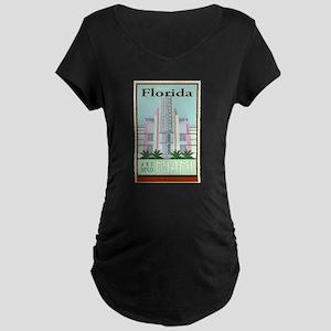 Travel Florida Maternity Dark T-Shirt