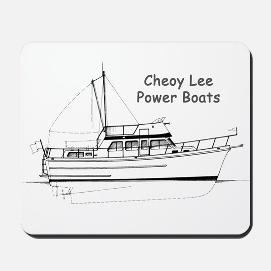 Cheoy Lee Power Boats Mousepad