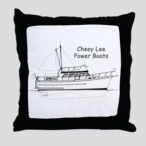 Cheoy Lee Power Boats Throw Pillow