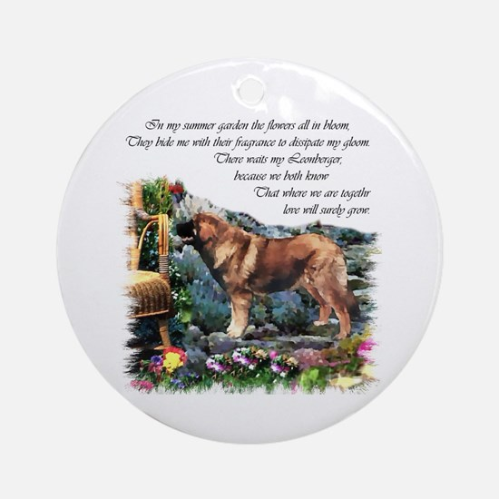 Leonberger Art Gifts Ornament (Round)