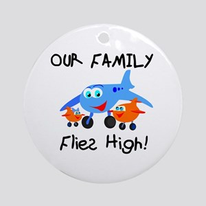 Our Family Flies High Ornament (Round)