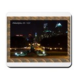 Night view of Philly. Mousepad