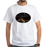 Night view of Philly. White T-Shirt
