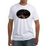 Night view of Philly. Fitted T-Shirt