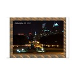 Night view of Philly. Mini Poster Print