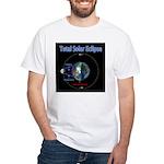 Total Solar Eclipse - 1, White T-Shirt